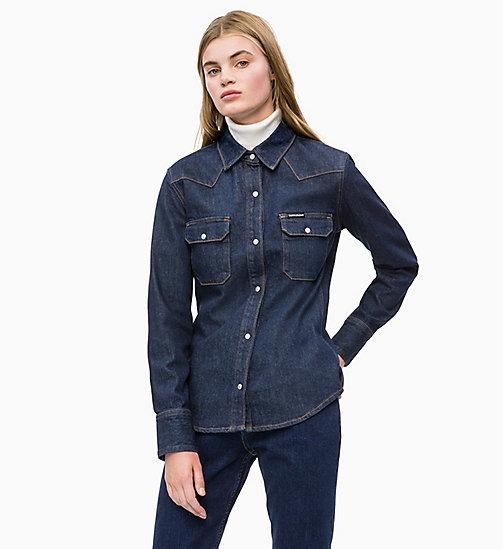 -50% CALVIN KLEIN JEANS Western Denim Shirt - MYALL RINSE SLVG - CALVIN  KLEIN JEANS DENIM SHOP ... 0eb751277674