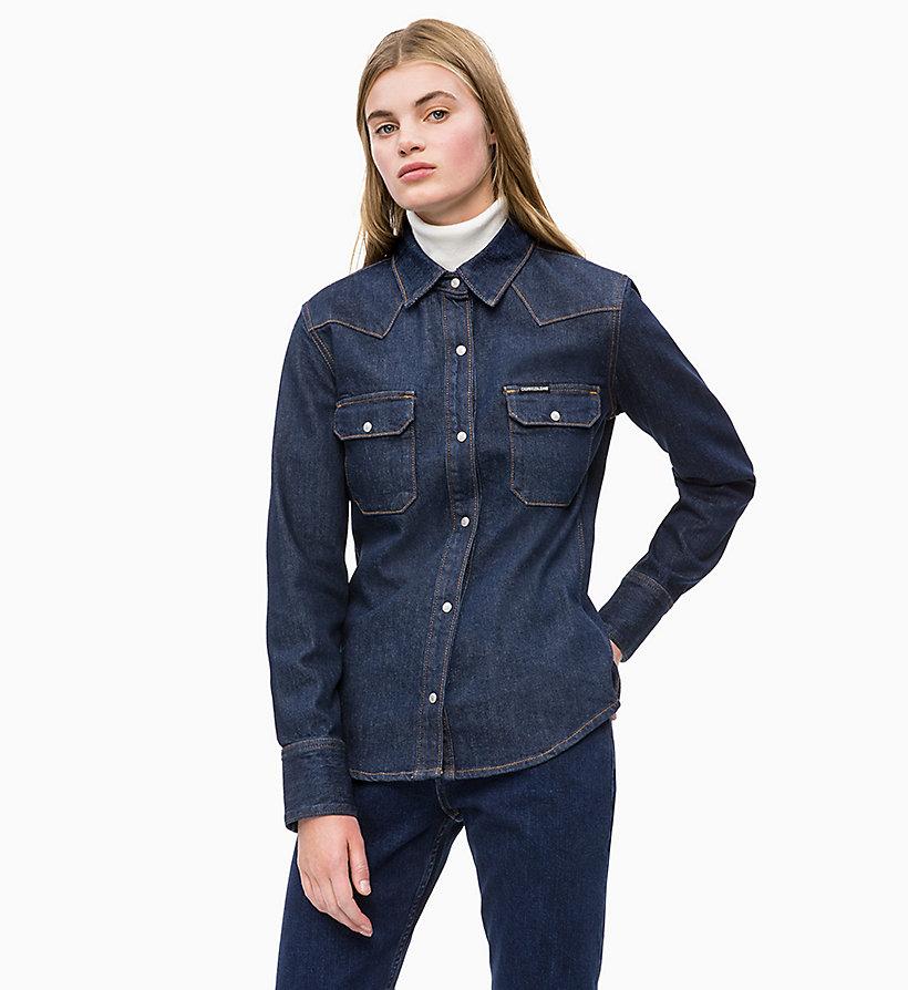 new arrival f7ead e4434 Camicia di jeans stile Western da donna da donna Calvin Klein® |  J20J208475911