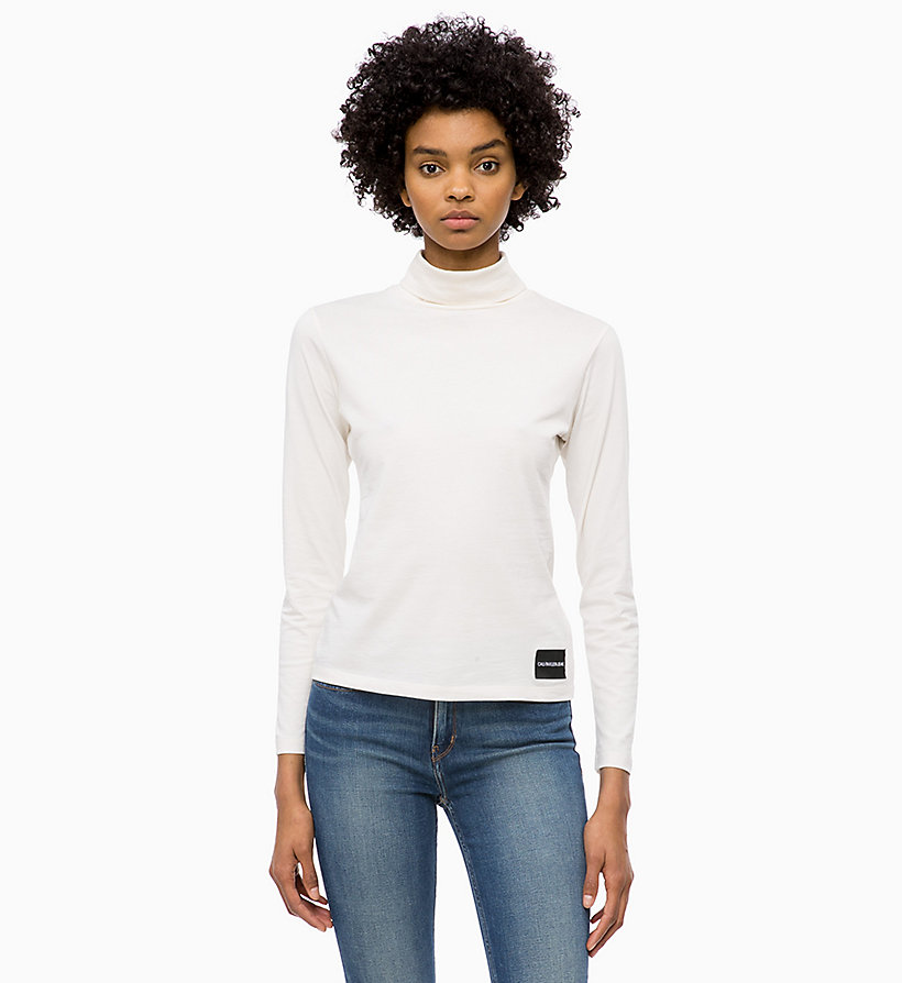 CALVIN KLEIN JEANS Long Sleeve Turtleneck Top - CK BLACK - CALVIN KLEIN JEANS UNDERWEAR - main image