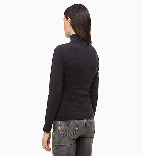 CALVIN KLEIN JEANS Long Sleeve Turtleneck Top - CK BLACK - CALVIN KLEIN JEANS CLOTHES - detail image 1