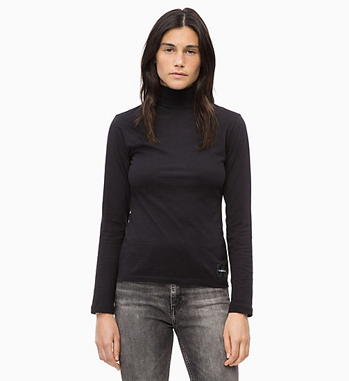 CALVIN KLEIN JEANS Long Sleeve Turtleneck Top - CK BLACK - CALVIN KLEIN JEANS CORDUROY - main image