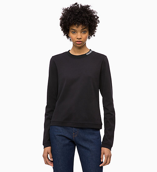 CALVIN KLEIN JEANS Long Sleeve T-shirt - CK BLACK - CALVIN KLEIN JEANS NEW IN - main image