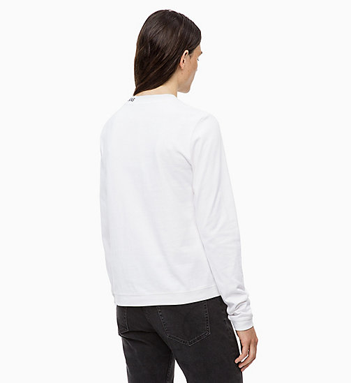 CALVIN KLEIN JEANS Long Sleeve T-shirt - BRIGHT WHITE - CALVIN KLEIN JEANS IN THE THICK OF IT FOR HER - detail image 1