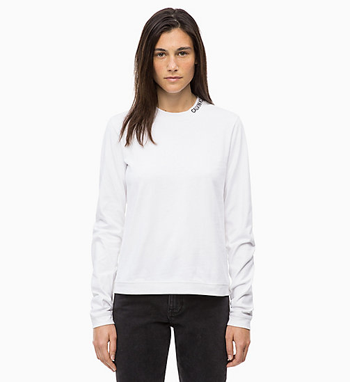 CALVIN KLEIN JEANS Long Sleeve T-shirt - BRIGHT WHITE - CALVIN KLEIN JEANS IN THE THICK OF IT FOR HER - main image