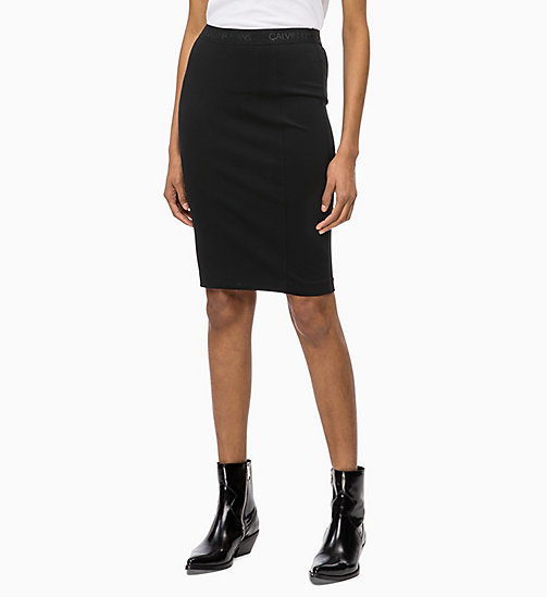 CALVIN KLEIN JEANS Milano Jersey Pencil Skirt - CK BLACK - CALVIN KLEIN JEANS SKIRTS - main image
