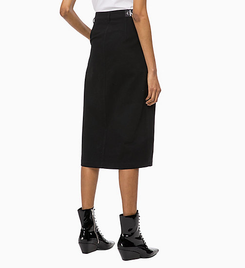 CALVIN KLEIN JEANS Button-Through Midi Skirt - CK BLACK - CALVIN KLEIN JEANS FALL DREAMS - detail image 1