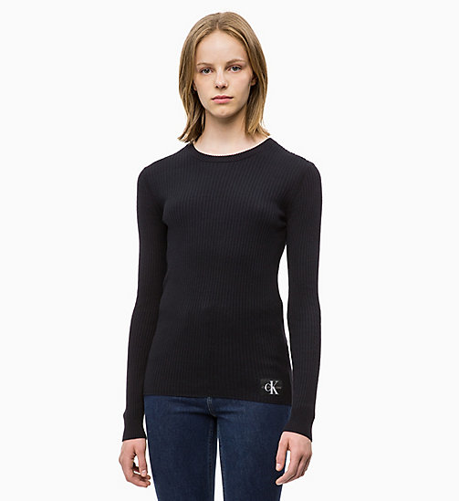 CALVIN KLEIN JEANS Wool Blend Rib-Knit Jumper - CK BLACK - CALVIN KLEIN JEANS NEW IN - main image