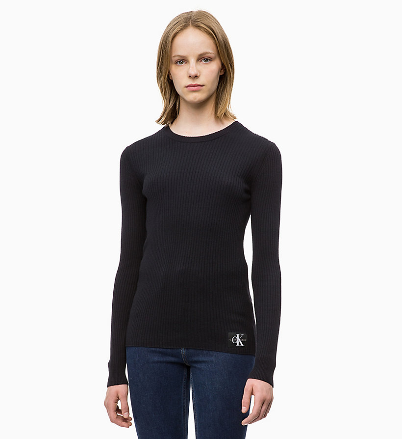 CALVIN KLEIN JEANS Wool Blend Rib-Knit Jumper - TAWNY PORT - CALVIN KLEIN JEANS WOMEN - main image
