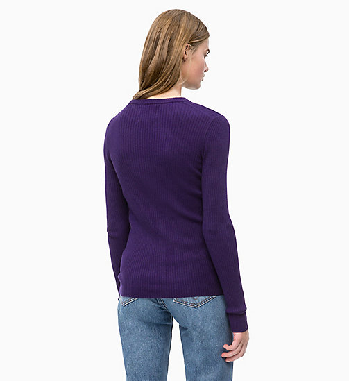 CALVIN KLEIN JEANS Wool Blend Rib-Knit Jumper - PARACHUTE PURPLE - CALVIN KLEIN JEANS NEW IN - detail image 1