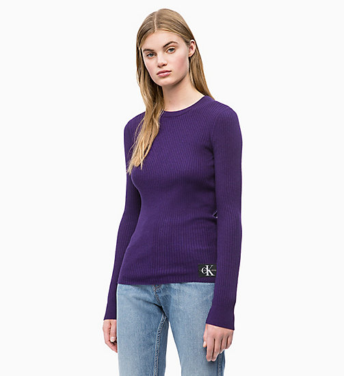 CALVIN KLEIN JEANS Wool Blend Rib-Knit Jumper - PARACHUTE PURPLE - CALVIN KLEIN JEANS NEW IN - main image