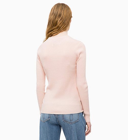 CALVIN KLEIN JEANS Wool Blend Rib-Knit Jumper - CHINTZ ROSE - CALVIN KLEIN JEANS NEW IN - detail image 1