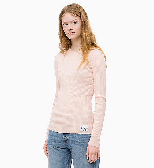 CALVIN KLEIN JEANS Wool Blend Rib-Knit Jumper - CHINTZ ROSE - CALVIN KLEIN JEANS NEW IN - main image