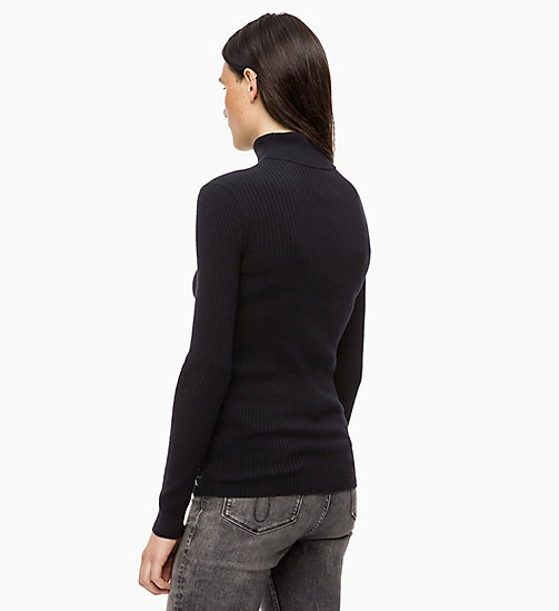 CALVIN KLEIN JEANS Wool Blend Turtleneck Jumper - CK BLACK - CALVIN KLEIN JEANS FALL DREAMS - detail image 1