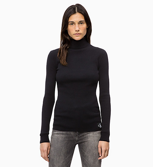 CALVIN KLEIN JEANS Wool Blend Turtleneck Jumper - CK BLACK - CALVIN KLEIN JEANS FALL DREAMS - main image