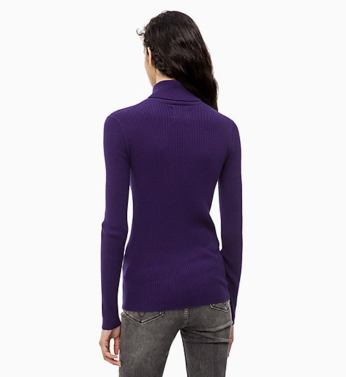 CALVIN KLEIN JEANS Wool Blend Turtleneck Jumper - PARACHUTE PURPLE - CALVIN KLEIN JEANS NEW IN - detail image 1