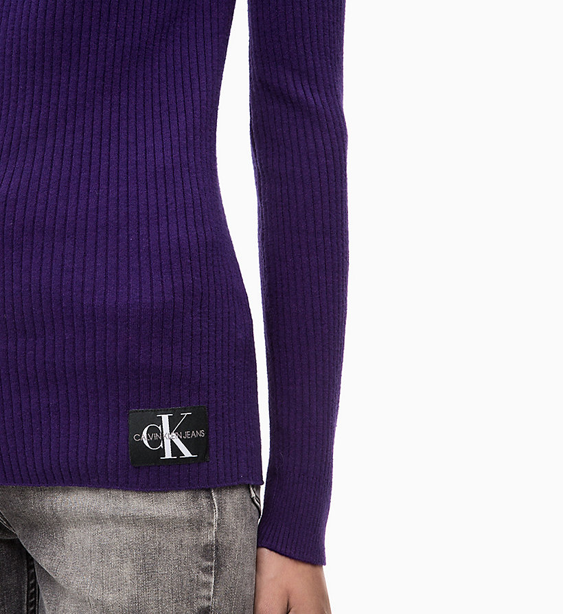 CALVIN KLEIN JEANS Wool Blend Turtleneck Jumper - PUMPKIN RED - CALVIN KLEIN JEANS WOMEN - detail image 2