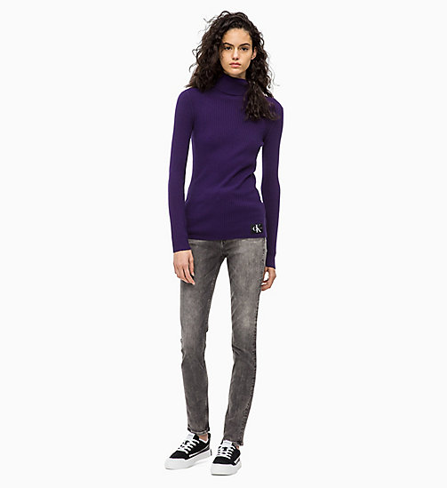 CALVIN KLEIN JEANS Wool Blend Turtleneck Jumper - PARACHUTE PURPLE - CALVIN KLEIN JEANS FALL DREAMS - detail image 1