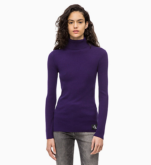 CALVIN KLEIN JEANS Wool Blend Turtleneck Jumper - PARACHUTE PURPLE - CALVIN KLEIN JEANS FALL DREAMS - main image