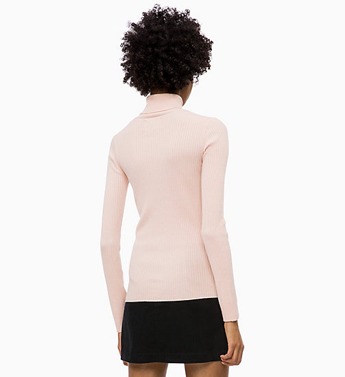 CALVIN KLEIN JEANS Wool Blend Turtleneck Jumper - CHINTZ ROSE - CALVIN KLEIN JEANS NEW IN - detail image 1