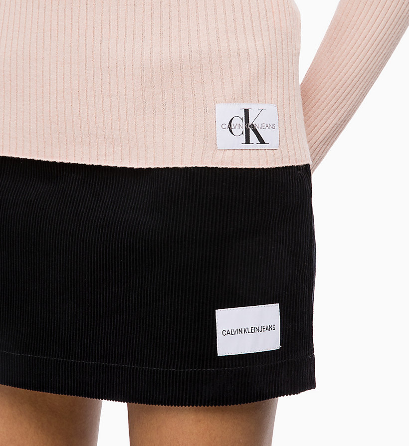 CALVIN KLEIN JEANS Wool Blend Turtleneck Jumper - CK BLACK - CALVIN KLEIN JEANS WOMEN - detail image 2