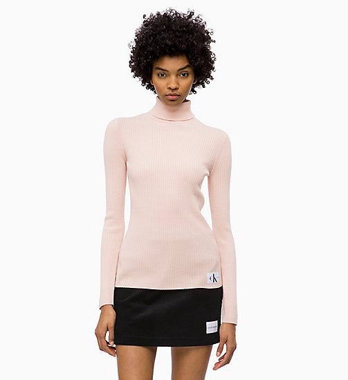 CALVIN KLEIN JEANS Wool Blend Turtleneck Jumper - CHINTZ ROSE - CALVIN KLEIN JEANS NEW IN - main image