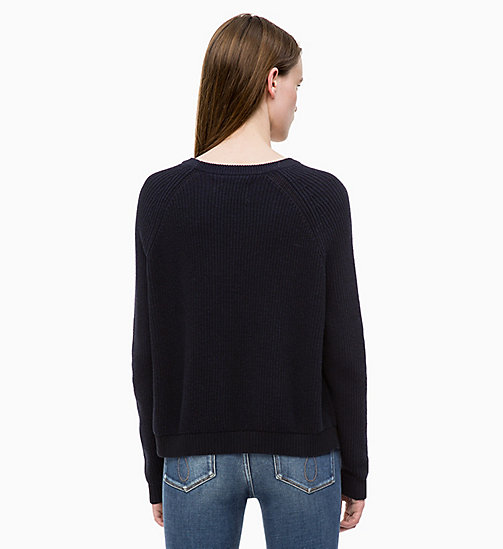 CALVIN KLEIN JEANS Cotton Wool Jumper - CK BLACK - CALVIN KLEIN JEANS FALL DREAMS - detail image 1