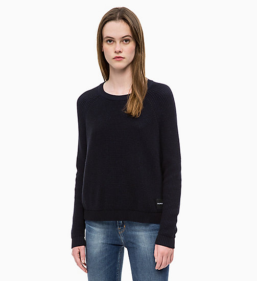 CALVIN KLEIN JEANS Cotton Wool Jumper - CK BLACK - CALVIN KLEIN JEANS FALL DREAMS - main image