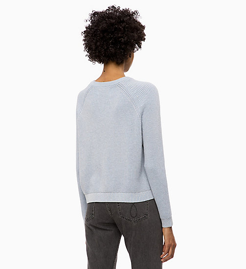 CALVIN KLEIN JEANS Sweater aus Baumwoll-Woll-Mix - CHAMBRAY BLUE - CALVIN KLEIN JEANS NEW IN - main image 1