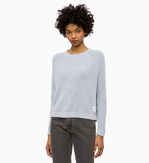 CALVIN KLEIN JEANS Cotton Wool Jumper - CHAMBRAY BLUE - CALVIN KLEIN JEANS NEW IN - main image