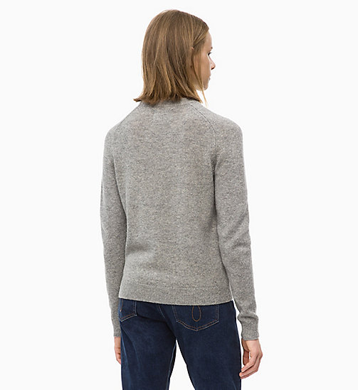 CALVIN KLEIN JEANS Maglione in lana Shetland - GREY HEATHER - CALVIN KLEIN JEANS IN THE THICK OF IT FOR HER - dettaglio immagine 1