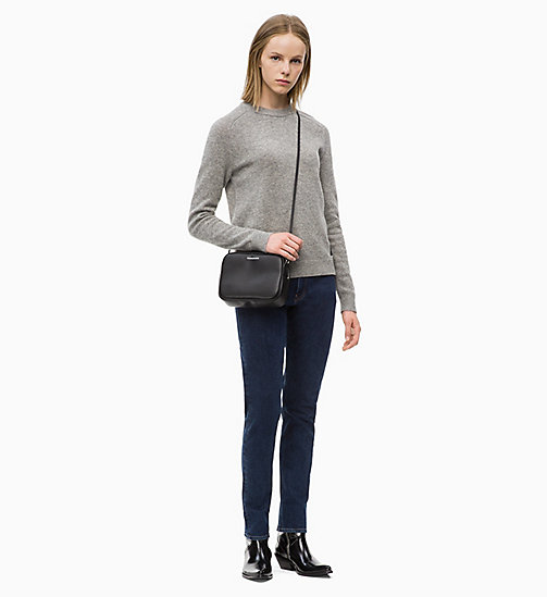 CALVIN KLEIN JEANS Shetland Wool Jumper - GREY HEATHER - CALVIN KLEIN JEANS IN THE THICK OF IT FOR HER - detail image 1