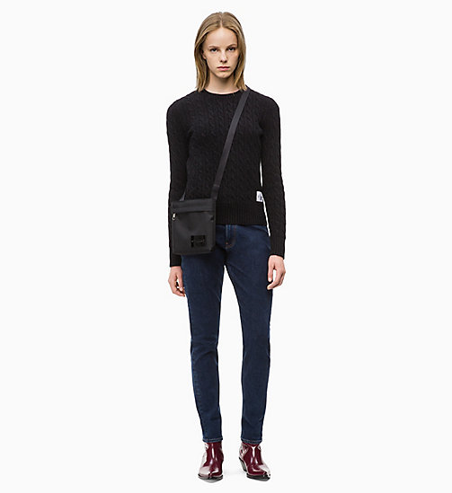 CALVIN KLEIN JEANS Lambswool Blend Cable Jumper - CK BLACK - CALVIN KLEIN JEANS KNITWEAR - detail image 1
