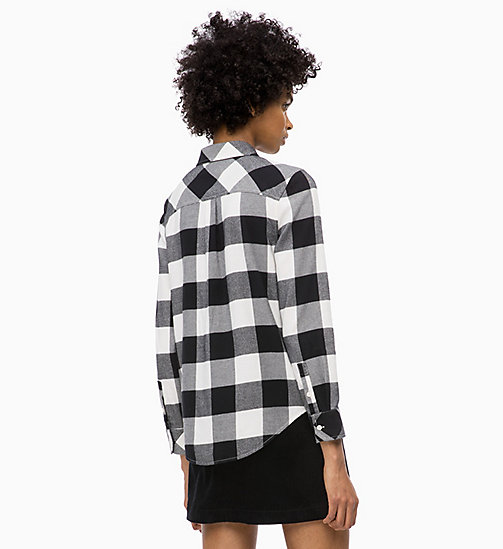 CALVIN KLEIN JEANS Flannel Check Shirt - CK BLACK /  EGRET - CALVIN KLEIN JEANS The New Off-Duty - detail image 1