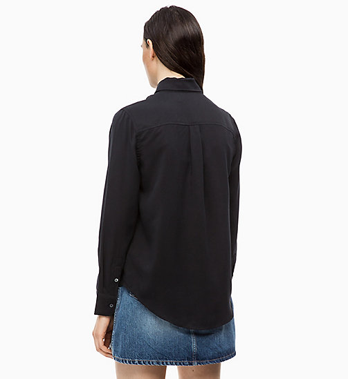 CALVIN KLEIN JEANS Patch Pocket Shirt - CK BLACK - CALVIN KLEIN JEANS FALL DREAMS - detail image 1