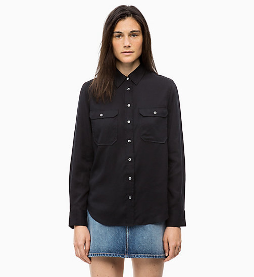CALVIN KLEIN JEANS Patch Pocket Shirt - CK BLACK - CALVIN KLEIN JEANS FALL DREAMS - main image