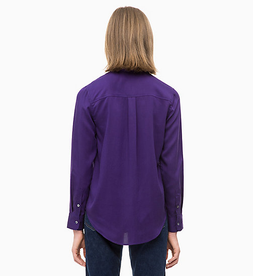 CALVIN KLEIN JEANS Patch Pocket Shirt - PARACHUTE PURPLE - CALVIN KLEIN JEANS FALL DREAMS - detail image 1
