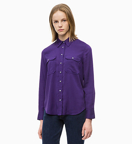 CALVIN KLEIN JEANS Patch Pocket Shirt - PARACHUTE PURPLE - CALVIN KLEIN JEANS FALL DREAMS - main image