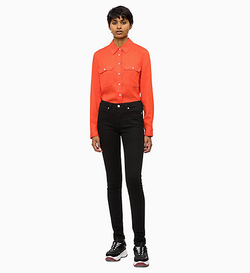 CALVIN KLEIN JEANS Patch Pocket Shirt - PUMPKIN RED - CALVIN KLEIN JEANS FALL DREAMS - detail image 1