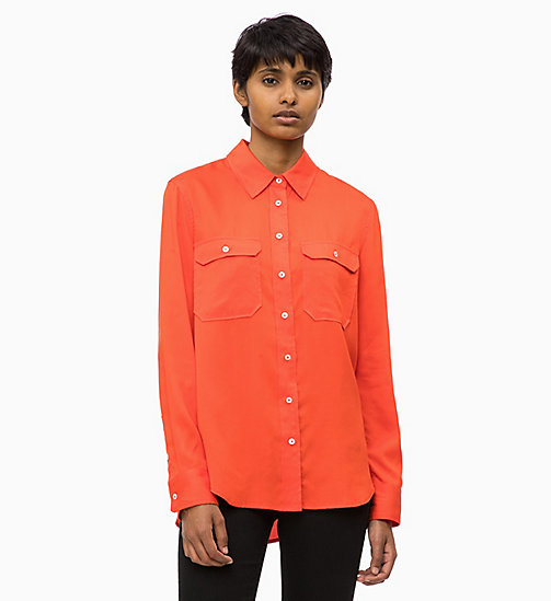 CALVIN KLEIN JEANS Patch Pocket Shirt - PUMPKIN RED - CALVIN KLEIN JEANS FALL DREAMS - main image