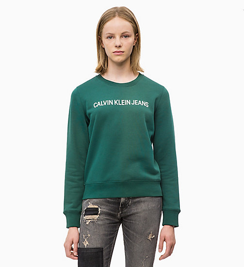 CALVIN KLEIN JEANS Logo Sweatshirt - JUNE BUG - CALVIN KLEIN JEANS NEW IN - main image