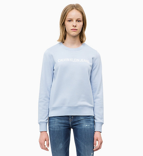 CALVIN KLEIN JEANS Logo Sweatshirt - CHAMBRAY BLUE - CALVIN KLEIN JEANS ALL GIFTS - main image