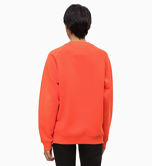 CALVIN KLEIN JEANS Embossed Logo Sweatshirt - PUMPKIN RED -  CLOTHES - detail image 1