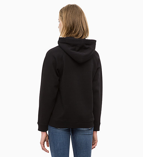 CALVIN KLEIN JEANS Gebloemde hoodie met print - CK BLACK - CALVIN KLEIN JEANS IN THE THICK OF IT FOR HER - detail image 1