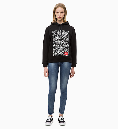 CALVIN KLEIN JEANS Kapuzenjacke mit floralem Print - CK BLACK - CALVIN KLEIN JEANS IN THE THICK OF IT FOR HER - main image 1