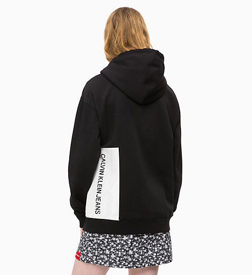 CALVIN KLEIN JEANS Zip-Through Logo Hoodie - CK BLACK - CALVIN KLEIN JEANS FALL DREAMS - detail image 1
