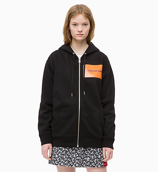 CALVIN KLEIN JEANS Zip-Through Logo Hoodie - CK BLACK - CALVIN KLEIN JEANS FALL DREAMS - main image