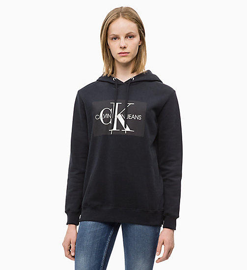 CALVIN KLEIN JEANS Logo Hoodie - CK BLACK - CALVIN KLEIN JEANS ALL GIFTS - main image