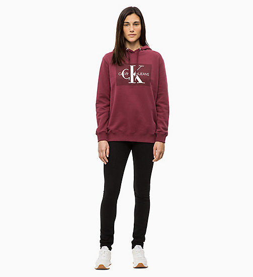 CALVIN KLEIN JEANS Logo Hoodie - TAWNY PORT - CALVIN KLEIN JEANS ALL GIFTS - detail image 1