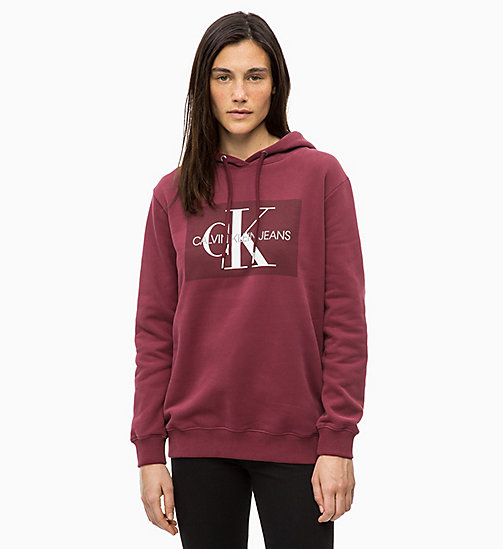 CALVIN KLEIN JEANS Logo Hoodie - TAWNY PORT - CALVIN KLEIN JEANS ALL GIFTS - main image