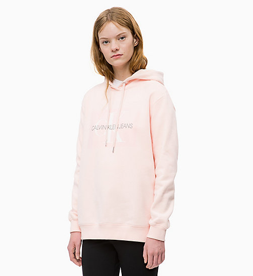 CALVIN KLEIN JEANS Logo Hoodie - CHINTZ ROSE - CALVIN KLEIN JEANS CLOTHES - main image